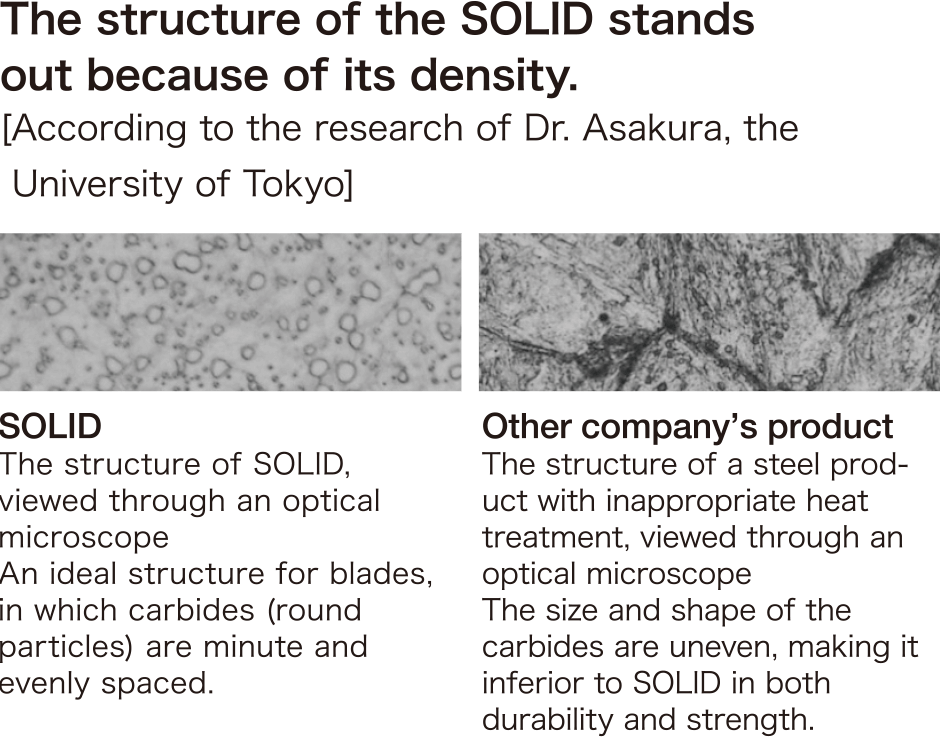 The structure of the SOLID stands out because of its density.